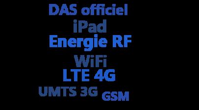 Le DAS officiel des iPads